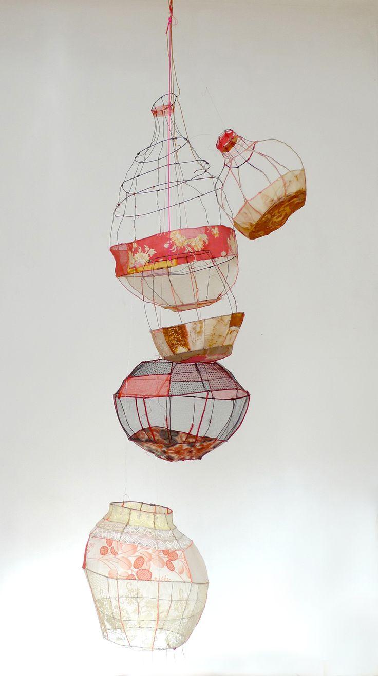 Sylvia Eustache Rools. Art textile. Sculpture textile. Vintage textile.