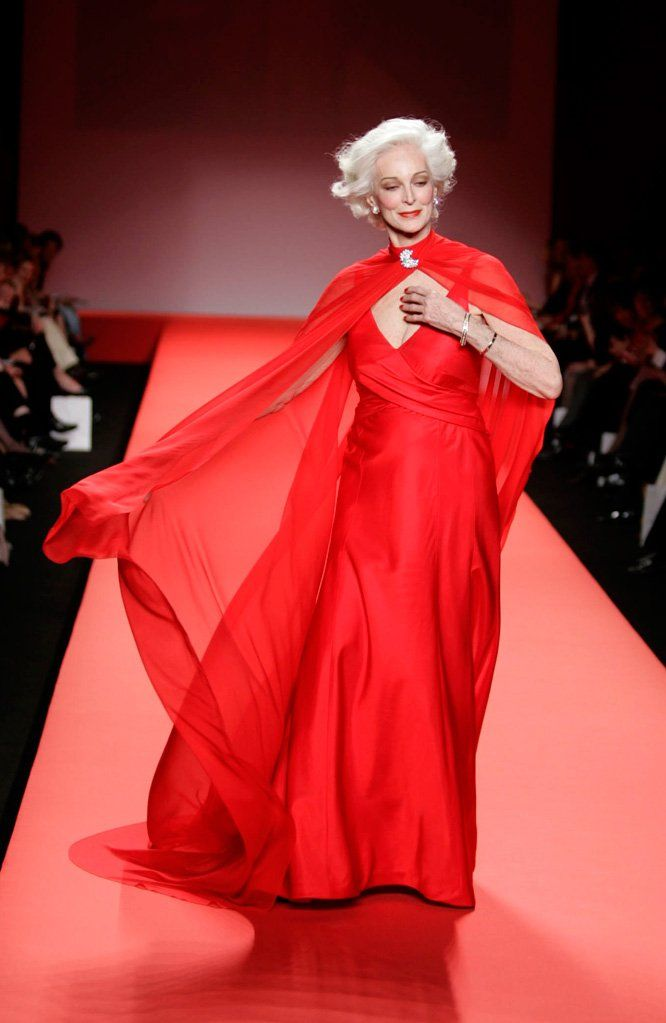 Carmen Dell'Orefice is making headlines as the oldest model to walk the runway at New York Fashion Week. The 81-year-old beauty hasn't dyed her hair in three decades and admits to using fillers to keep wrinkles at bay. Do you find her inspirational?70S Fashion, Fashion Weeks, Carmen Delloref, Fashion Models, Carmen Dell'Oref, New York Fashion, Runway Models, Carmen Them Orefice, Age Grace
