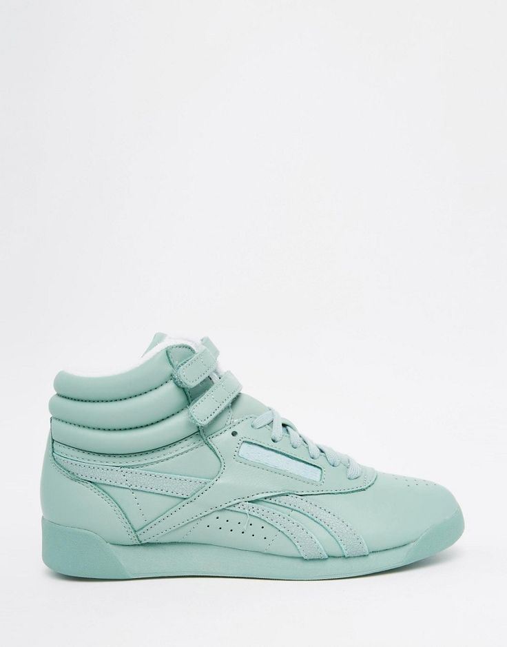 Image 2 of Reebok Freestyle Hi Spirit Mint Green Sneakers