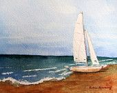 Sail away collection - nice:): Watercolor Landscape Paintings, Crafts Ideas, Gifts Ideas, Artists Barbara, Art Prints, Beaches Sailboats, Barbararosenzweig, Barbara Rosenzweig, Beaches Decor