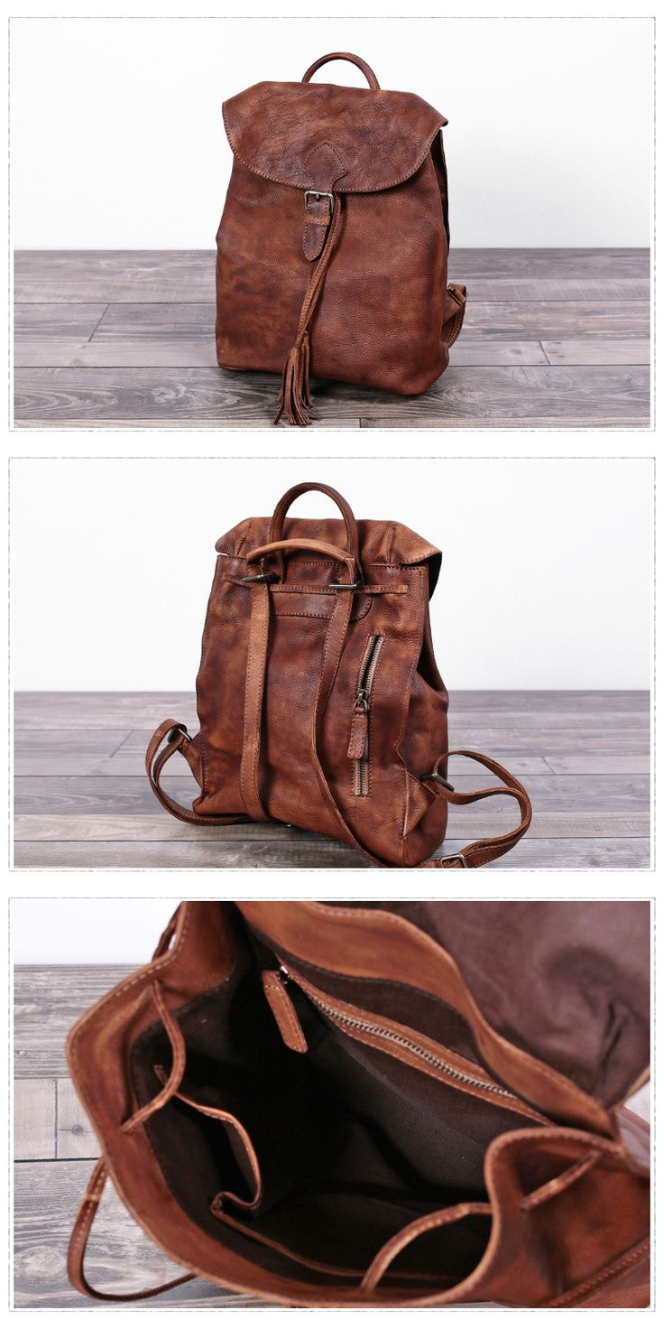 Women Leather Backpack Travel Backpack School Backpack Feature: 1. Comfortable Shoulder Strap 2. Solid Quality Hardware 3. Fabric Lining 4. Inside zipper pocket, 1 cell pocket, 1 wallet pocket. ------