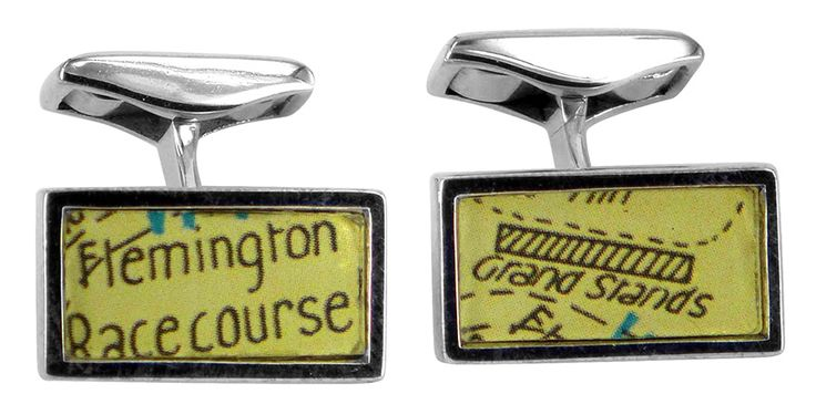 Flemington race course vintage street directory cufflink
