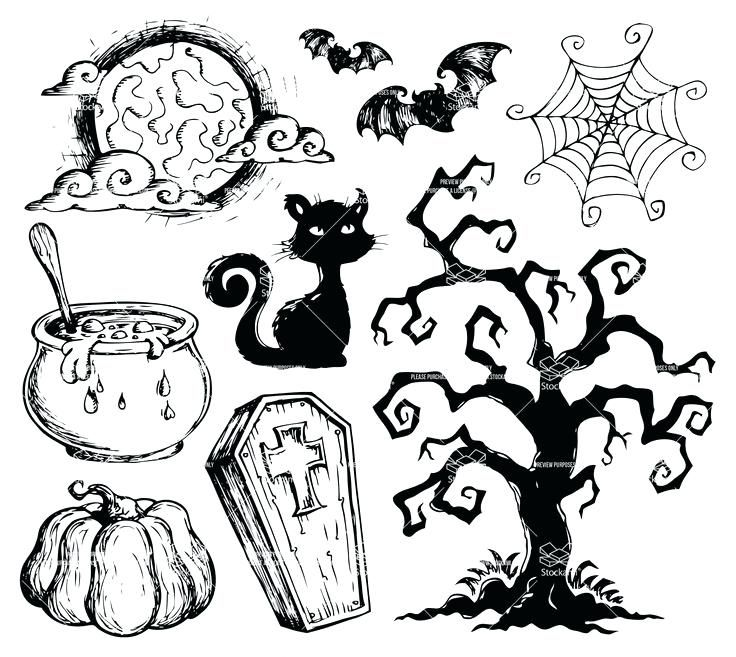 Easy Halloween Drawings Ideas Easy Halloween Drawings Halloween Drawings Halloween Pictures To Draw