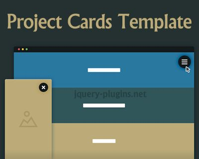Project Cards Template with CSS and jQuery