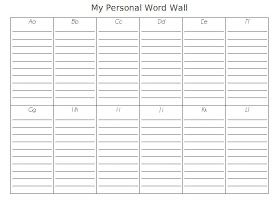 A Love for Teaching: Personal Word Wall