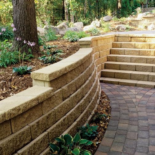 Step back retaining wall dollhouse miniature garden for Landscaping rocks tuscaloosa al