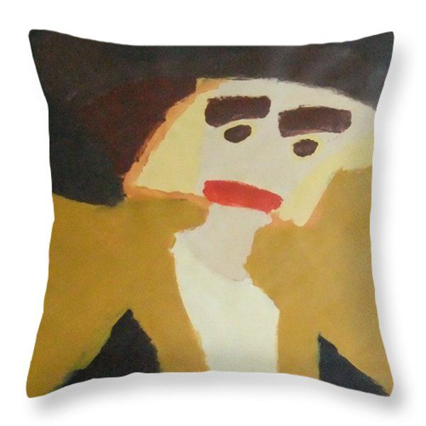 Throw Pillow featuring the painting The Graduate 2014 by Patrick Francis