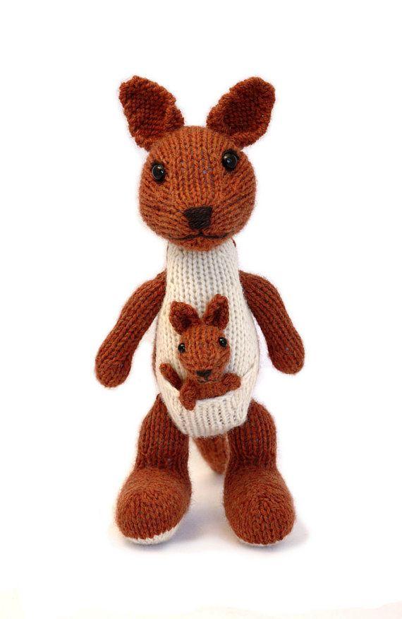 Toy Kangaroo Knitting Pattern : Kangaroo and Joey Knitting Pattern How to work, Toys and To work