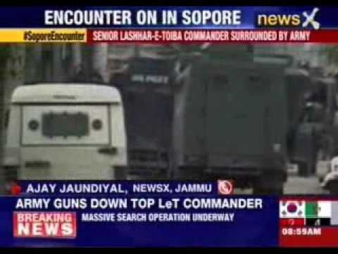 Top LeT terrorist killed by Indian Army in Sopore, J&K