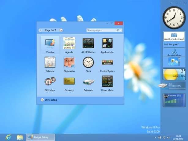 Have Windows 8 or 10 and miss your Windows 7 gadgets? Check this out!