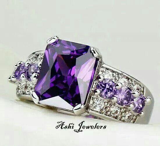 Best 25+ Purple Diamond Rings Ideas On Pinterest