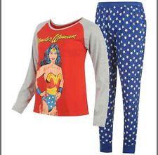 wonder woman pajamas | BNWT ~~~~~Ladies WONDER WOMAN long pyjamas set~~~~~ UK sizes 6 - 18