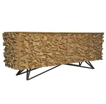 Mersin Global Bazaar Reclaimed Wood Metal Sideboard Buffet Kathykuohome