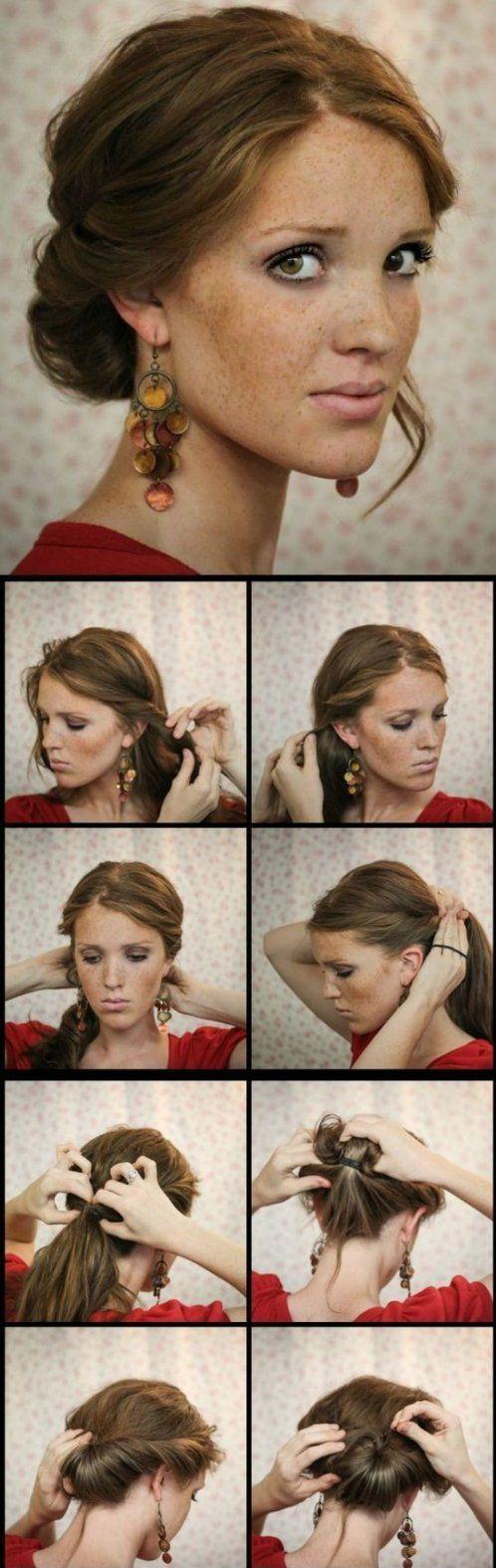 Peinado recogido facil con enrollados 2015 en 8 pasos sencillos