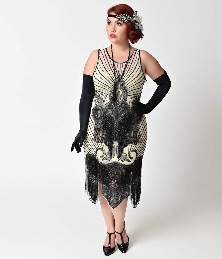 Vintage Flapper Dress Plus Size_Plus Size Dresses_dressesss