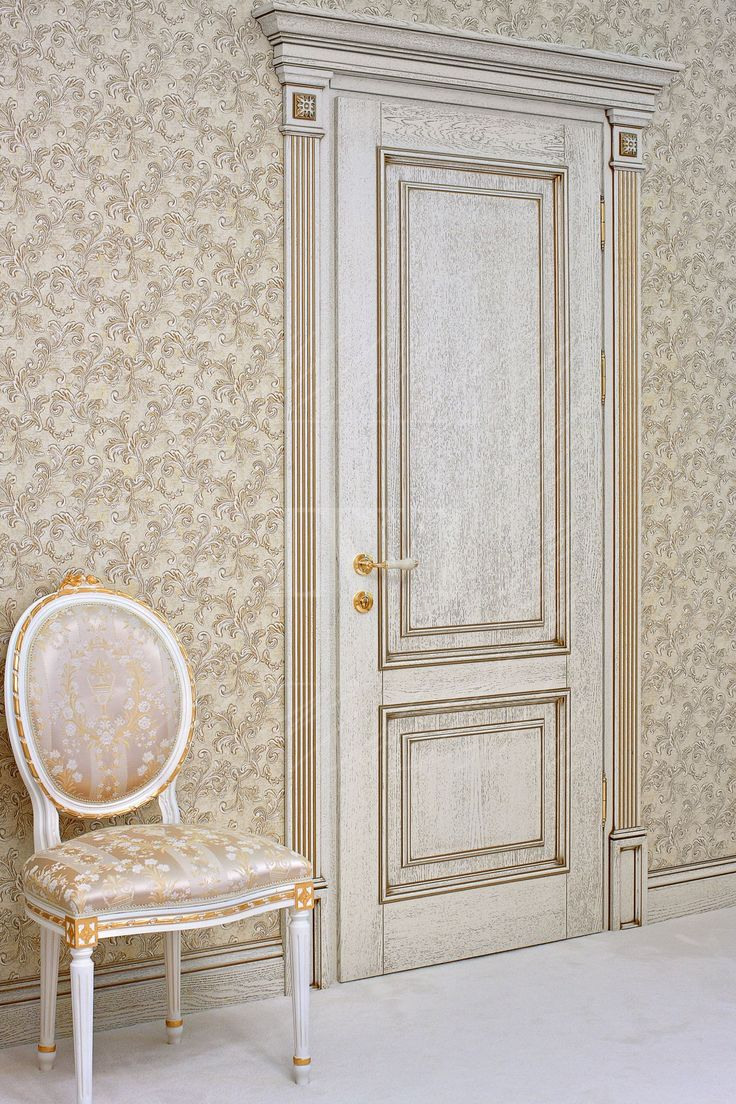 """Белые двери из массива дуба: межкомнатные двери из дуба """"Классика"""" белого цвета"""