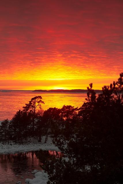 Sunset from Oxelösund Sweden