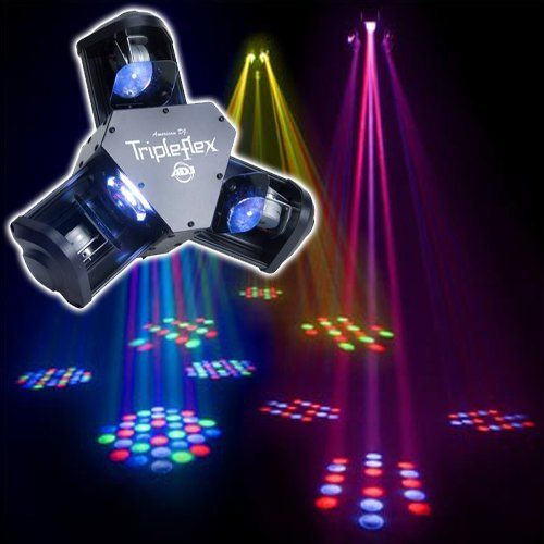 AMERICAN DJ | LIGHTING EFFECTS| TRIPLEFLEX by American DJ. $199.99. L.E.D. Centerpiece with Three Scanning Heads