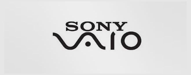 """Sony Vaio: The Sony Vaio logo symbolizes the integration of analog and digital technology. The """"VA"""" forms an analog wave and """"IO"""" represents a binary 1 and 0."""