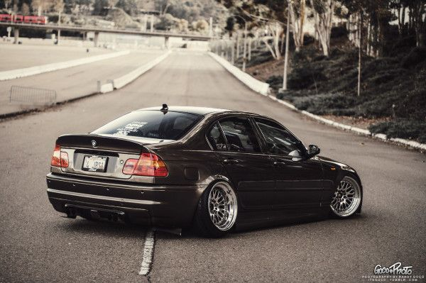 BMW E46 M3 black deep dish