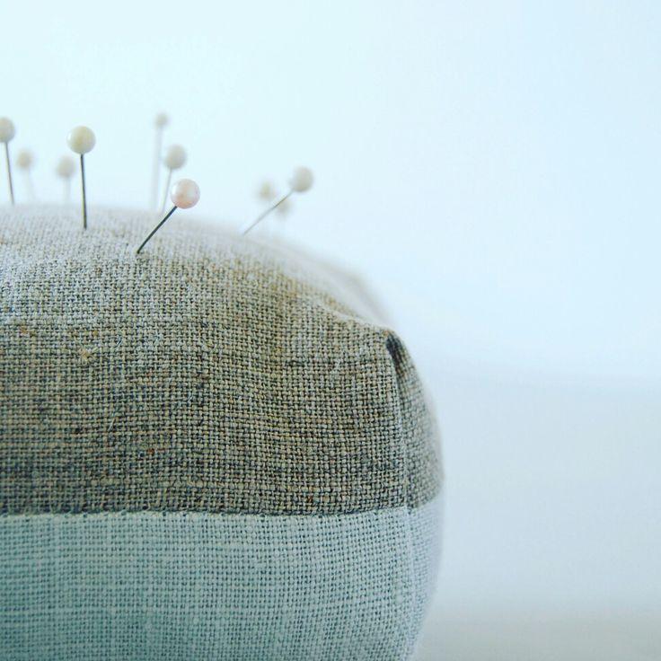 Linen pin cushion