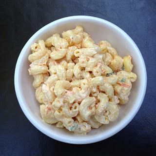 CALEB: *This is THE ONE I want to try!!* RECIPE FROM America's Test Kitchen (Cook's Country) Hawaiian Mac Salad