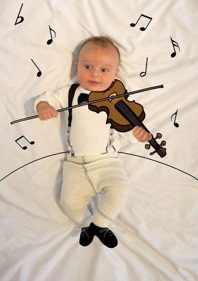 Teo de Mayor quiere ser Músico. Fotografia & Ilustración Creativa de bebés y niños soñadores. bebé baby