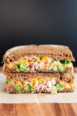 Broccoli ham grilled cheese!