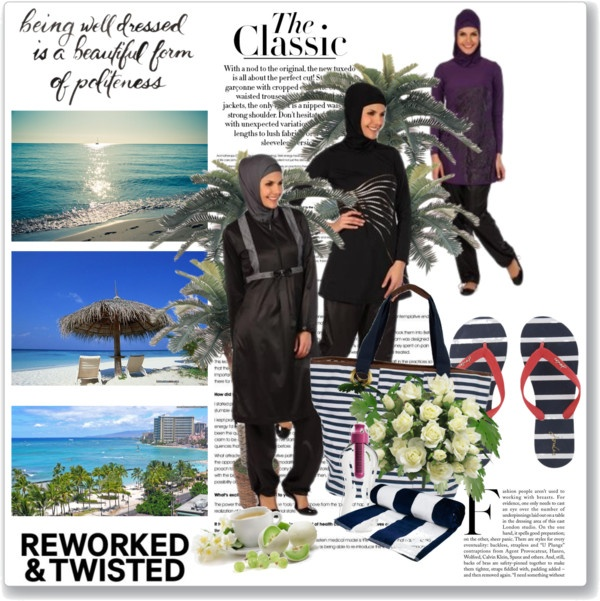 """Modeset islamic swimwear covered beautifully!"" by modestfashion ❤ liked on Polyvore"