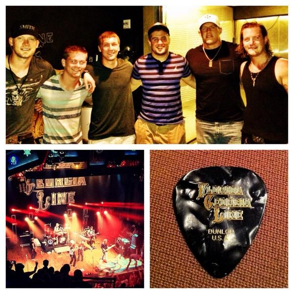 Watt brothers hanging out with Florida Georgia Line after the concert last year! Summer is all about country music #