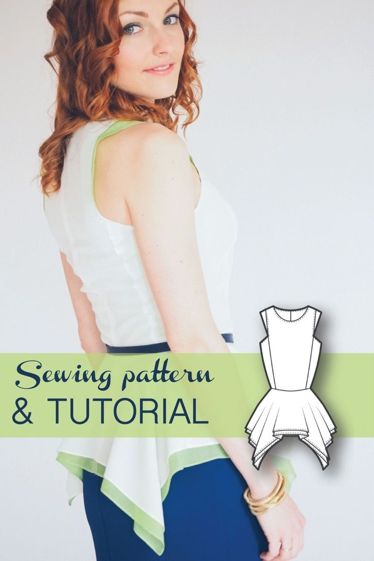 Peplum Top Pattern - Blouse Patterns - Sewing Tutorials - Fashion Patterns - PDF Sewing Patterns - Sewing Projects - Sewing Patterns