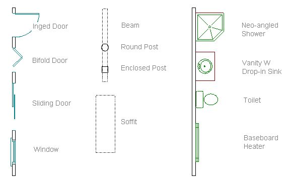 Floor Plan Symbols Interior Design Resources Pinterest