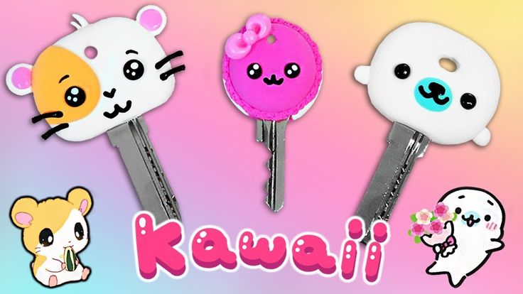 ✨ DIY: Fundas Kawaii para llaves o Llaveros    #KawaiiWeek 1✨
