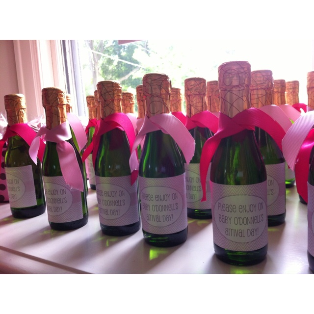 Cute Bottle Labels For Baby Shower Champagne Favors