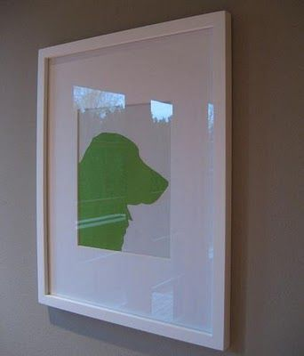 DIY dog silhouette