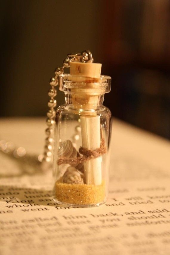 Message From The Sea Glass Vial Necklace Message