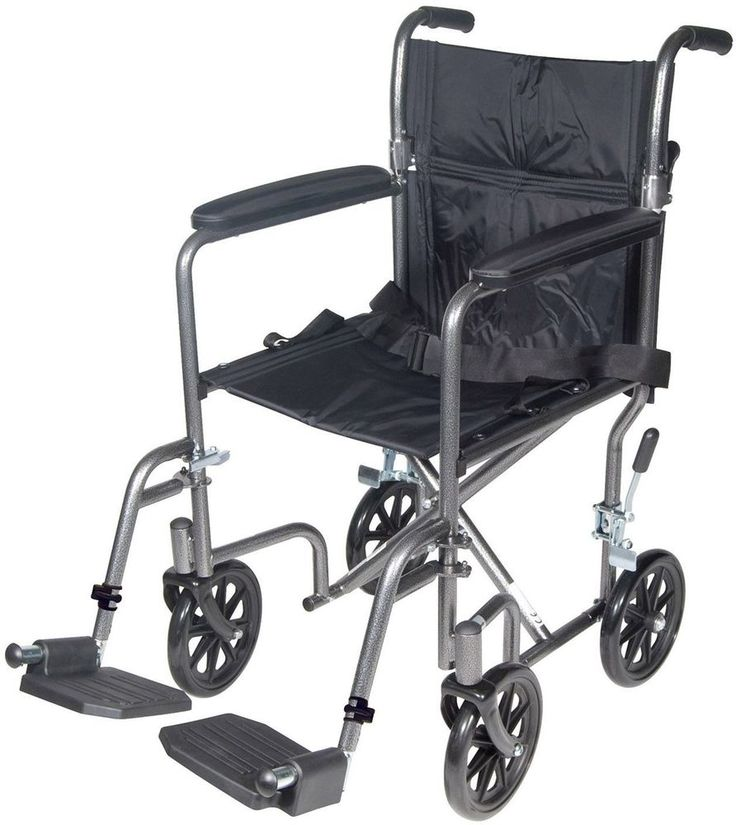 Drive Medical Transport Wheelchair|Lightweight Steel|Foot Rest|Foldable|Silver #DriveMedical