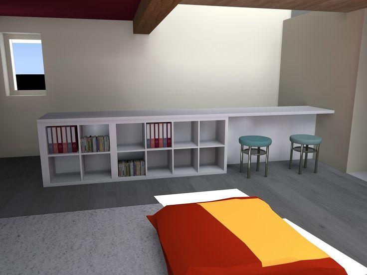 bibliothque avec chelle ika grand vase transparent pas. Black Bedroom Furniture Sets. Home Design Ideas