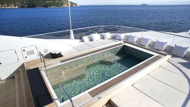 Six of the best superyacht swimming pools to make a splash on the sun deck