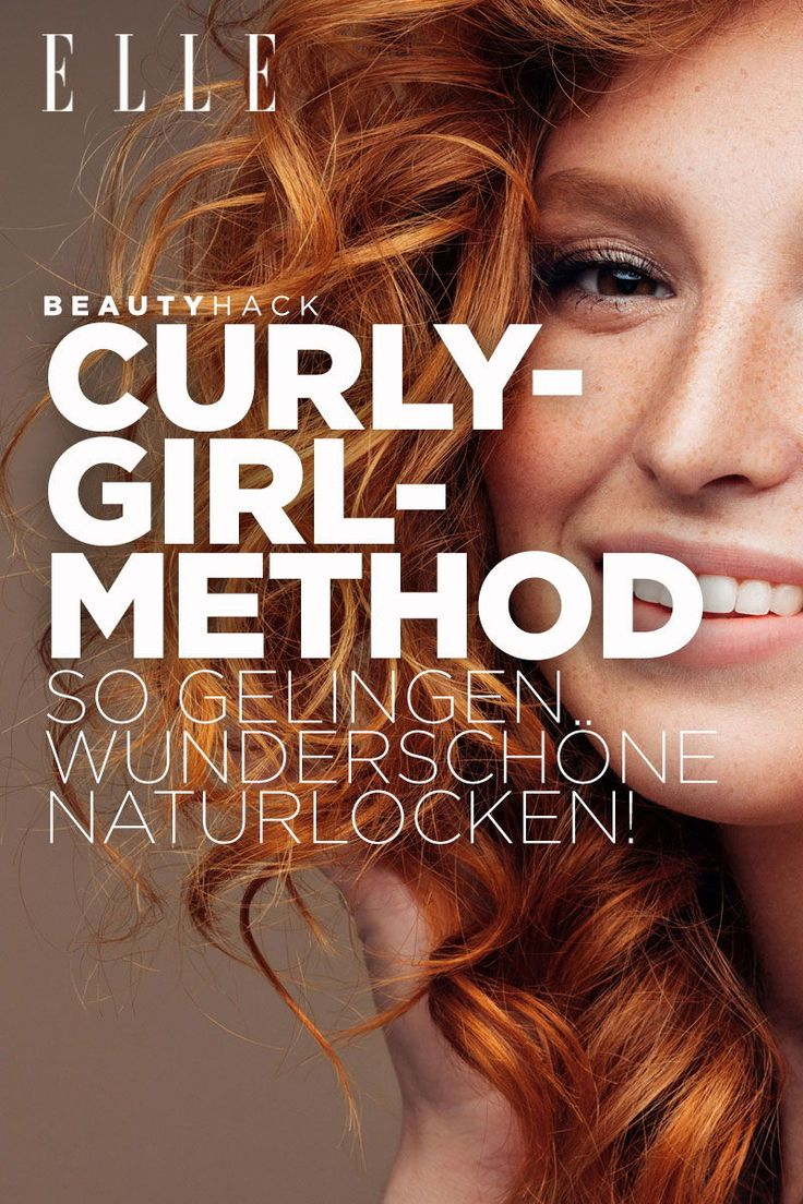 Mit der Curly-Girl-Method gelingen schöne Naturlocken