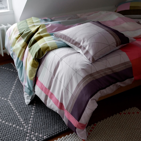 Duvet covers and pillow cases by Hay.
