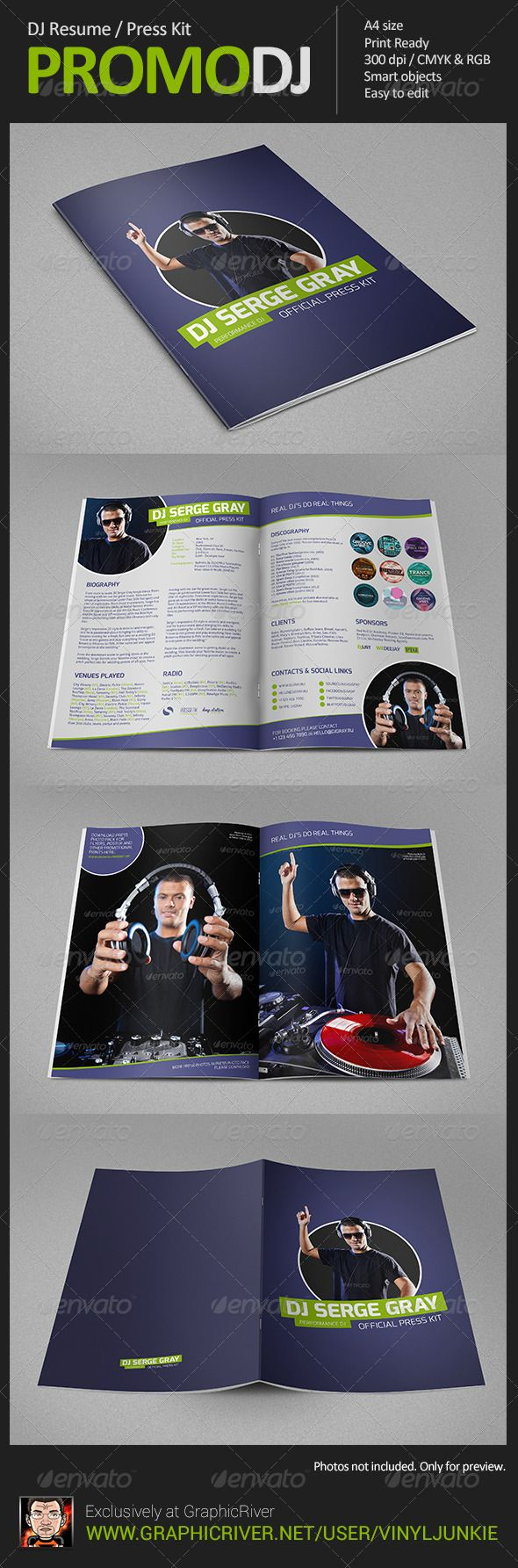 15 best images about dj press kit and dj resume templates