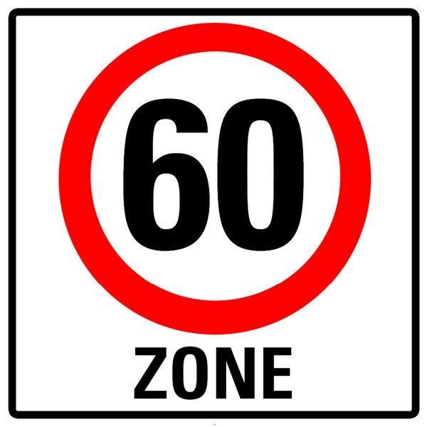 Einladung Zum 60 Geburtstag Verkehrsschild 60 Zone Einladung