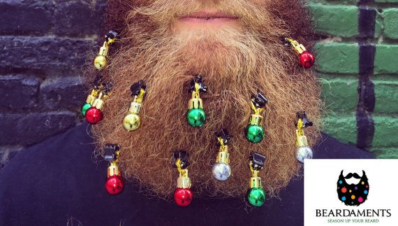 Beard Ornaments Ugly Christmas Party Christmas Ornament Beard Baubles Christmas Decoration Beard Art Beardaments Beard Bling Pack of 12