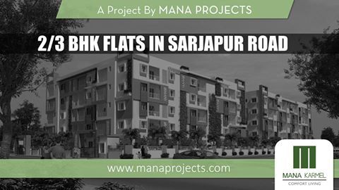 We provide quality and give emphasis to nature which makes your everyday life healthy and happy to live in.  Mana Karmel is onging Project of Mana Projects Comes with 2/3 #BHK #Flats with budget Price at sarjapur Road #Bangalore.  For Booking Or More Info: Visit: www.manaprojects.co.in Call: +91 7676 333 000