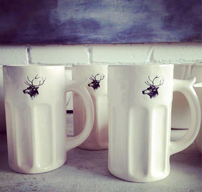 magenta halloween mugs