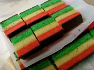 Italian Rainbow Cookies Recipe | Just A Pinch Recipes I love these cookies, just not the jam in it.