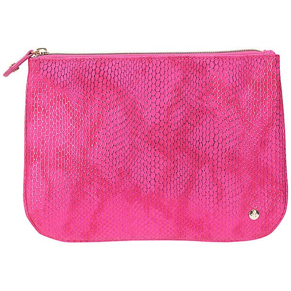 Stephanie Johnson Havana Large Flat Pouch - Pink - Cosmetic Bags ($28) ❤ liked on Polyvore featuring beauty products, beauty accessories, bags & cases, pink, make up bag, toiletry bag, cosmetic purse, purse makeup bag and stephanie johnson makeup bag
