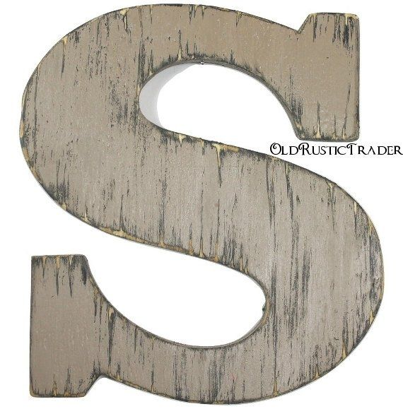 Wooden Intial S Rustic Wood Letter 12 Inch Letter Wall Decor Hanging Wall Letter Guest Book Le Hanging Letters On Wall Letter Wall Decor Wood Letters