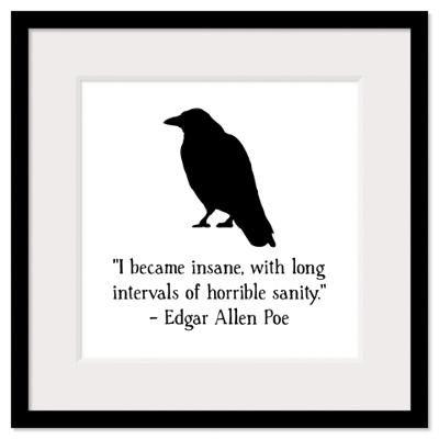 Edgar Allen Poe Quote Wall Art Framed Print